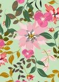Fondo inconsútil del estampado de flores - ejemplo Fotografía de archivo libre de regalías