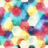 Fondo inconsútil del estilo del color de agua de la geometría stock de ilustración