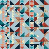 Fondo inconsútil del extracto del modelo del triángulo con de moda en colores pastel de Memphis de la textura geométrica Imagen de archivo libre de regalías