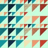 Fondo inconsútil del extracto del modelo del triángulo con de moda en colores pastel de Memphis de la textura geométrica Fotografía de archivo libre de regalías