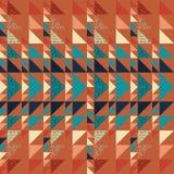 Fondo inconsútil del extracto del modelo del triángulo con de moda en colores pastel de Memphis de la textura geométrica Fotos de archivo