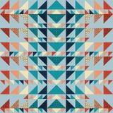 Fondo inconsútil del extracto del modelo del triángulo con de moda en colores pastel de Memphis de la textura geométrica Imagenes de archivo