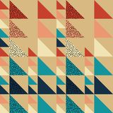 Fondo inconsútil del extracto del modelo del triángulo con la textura geométrica para la bufanda de moda Imagen de archivo libre de regalías