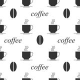 Fondo inconsútil del grano de café Foto de archivo libre de regalías
