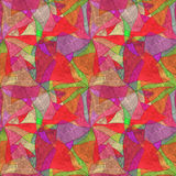 Fondo inconsútil del grunge, brillantemente modelo multicolor caleidoscópico, Imagenes de archivo