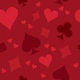 Fondo inconsútil del juego de la tarjeta Imagenes de archivo