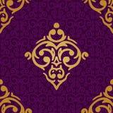 Fondo inconsútil del lujo del damasco Imagenes de archivo