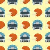 Fondo inconsútil del modelo del casco del béisbol de la historieta stock de ilustración