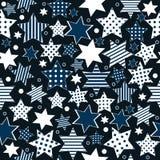 Fondo inconsútil del modelo con las estrellas estilizadas Imagen de archivo libre de regalías