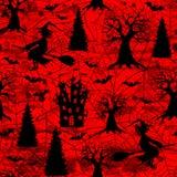 Fondo inconsútil del modelo de Halloween del extracto rojo sangre sangriento del grunge stock de ilustración