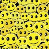 Fondo inconsútil del modelo de la cara de la sonrisa Foto de archivo libre de regalías