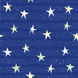 Fondo inconsútil del modelo de la estrella abstracta Isolat hecho a mano de la estrella Fotos de archivo