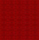 Fondo inconsútil del modelo de la geometría del cuadrado del tracery de la ventana del estilo chino del vintage Imagenes de archivo