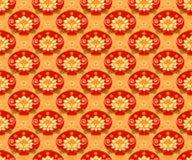 Fondo inconsútil del modelo de la linterna china roja Ornamento tradicional Imagenes de archivo