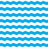 Fondo inconsútil del modelo de la onda azul Imagen de archivo libre de regalías