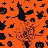 Fondo inconsútil del modelo de la tarjeta de Halloween Fotografía de archivo libre de regalías