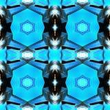 Fondo inconsútil del modelo de la tela tradicional asiática azul de Ikat Fotografía de archivo