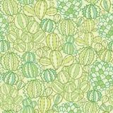 Fondo inconsútil del modelo de la textura de las plantas del cactus Imagen de archivo libre de regalías
