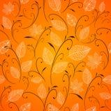 Fondo inconsútil del modelo de las hojas de otoño del vintage. ilustración del vector