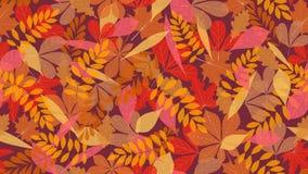 Fondo inconsútil del modelo de las hojas de otoño para las banderas del web, de la materia textil o de los anuncios stock de ilustración