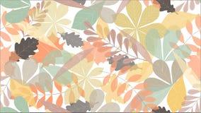 Fondo inconsútil del modelo de las hojas de otoño para las banderas del web, de la materia textil o de los anuncios ilustración del vector