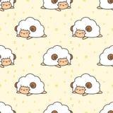 Fondo inconsútil del modelo de las ovejas el dormir stock de ilustración