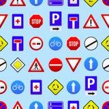 Fondo inconsútil del modelo de las señales de tráfico Vector libre illustration