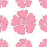Fondo inconsútil del modelo de Sakura de la flor de cerezo stock de ilustración