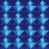 Fondo inconsútil del modelo del cuadrado del azul real Stock de ilustración