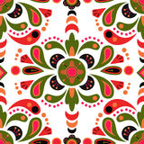 Fondo inconsútil del modelo del damasco floral Imagen de archivo libre de regalías
