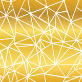 Fondo inconsútil del modelo del mosaico del blanco de oro del vector que brilla intensamente de la repetición geométrica de los t libre illustration