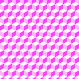 Fondo inconsútil 001 del modelo del volumen geométrico rosado Foto de archivo libre de regalías