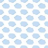 Fondo inconsútil del modelo del tiempo de las nubes Fotografía de archivo libre de regalías