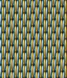 Fondo inconsútil del modelo del vector azul de la rejilla del oro Fotos de archivo libres de regalías