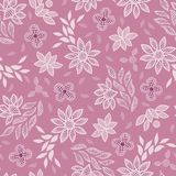 Fondo inconsútil del modelo del vector del bordado floral rosado del cordón libre illustration