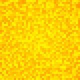 Fondo inconsútil del mosaico amarillo abstracto del pixel Imagen de archivo