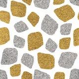 Fondo inconsútil del mosaico de oro y de plata Fotos de archivo libres de regalías
