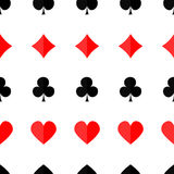 Fondo inconsútil del póker con los trajes Imagenes de archivo