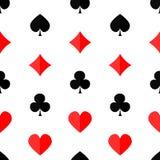 Fondo inconsútil del póker con suits2 Foto de archivo libre de regalías