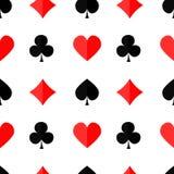 Fondo inconsútil del póker con suits3 Imágenes de archivo libres de regalías