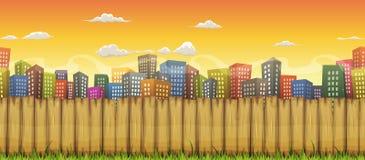 Fondo inconsútil del paisaje de la ciudad ilustración del vector