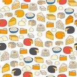 Fondo inconsútil del queso Imágenes de archivo libres de regalías