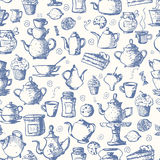 Fondo inconsútil del té stock de ilustración