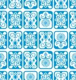 Fondo inconsútil del vector Azulejos azules Fotografía de archivo