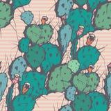 Fondo inconsútil del vector con el cactus Foto de archivo