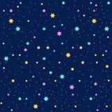 Fondo inconsútil del vector con las estrellas coloridas Foto de archivo