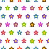 Fondo inconsútil del vector de la flor colorida Imagen de archivo libre de regalías