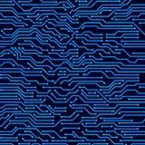 Fondo inconsútil del vector de la placa de circuito ilustración del vector