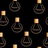 Fondo inconsútil del vector de las bombillas, modelo periódico Fotografía de archivo