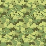 Fondo inconsútil del vector del modelo del camuflaje del extracto del color verde Contexto militar moderno del diseño del arte de Fotos de archivo libres de regalías